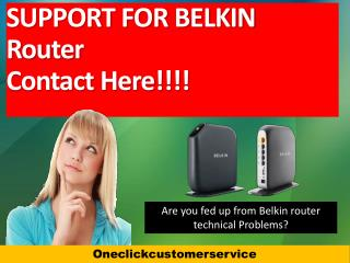 Belkin Technical Support Number