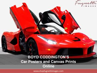Improve Your Space with High Quality Car Posters and Canvas Prints