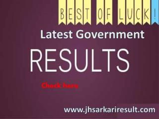 Latest Government Results