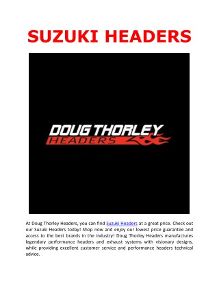 Suzuki Headers