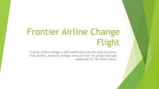 frontier airline change flight