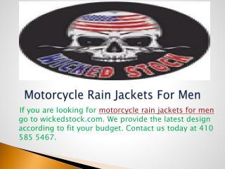 Motorcycle Rain Jackets For Men