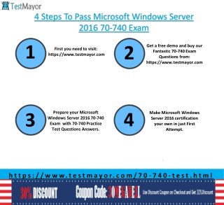Microsoft Windows Server 2016 70-740 Practice Exam