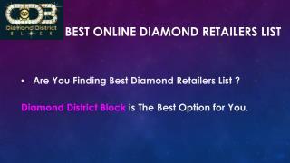 Best Online Diamond Retailers List