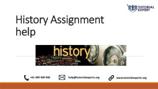 Online History Assignment Help