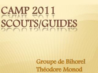 CAMP 2011 SCOUTS/GUIDES