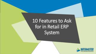 10 Features to Ask for in Retail ERP System