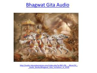 Listen and download bhagwat Gita in Hindi Audio