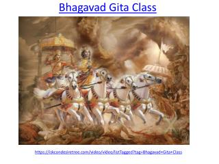 Bhagavad Gita Class for Mental Peace