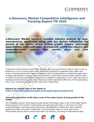 e-Discovery Industry Analysis, Growth and Forecast, 2018-2026 - Coherent Market Insights