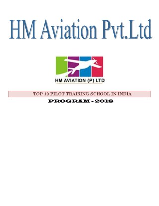 HM Aviation – The best pilot training school in India