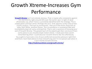 Growth Xtreme-Increase Muscle Strength