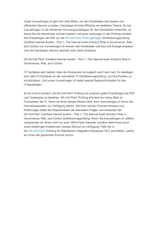 IIA-CIA-Part1 Pruefungsfragen, IIA-CIA-Part1 dumps