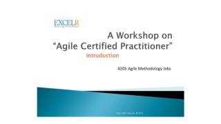 pmi agile certified practitioner certification bangalore