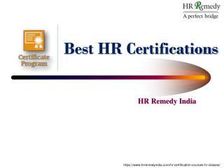 HR Certifications, HR Certification Course, HR Certification Courses in Pune, HR Training classes in Pune, HR Classes, H