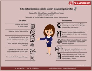Is the abstract same as an executive summary in engineering dissertation? Phd Assistance