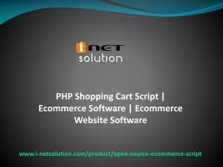 Ecommerce Software, Ecommerce Website Software