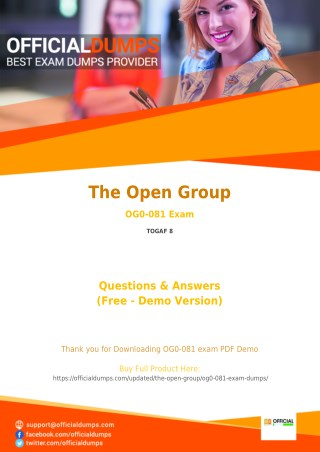 OG0-081 - Learn Through Valid The Open Group OG0-081 Exam Dumps - Real OG0-081 Exam Questions