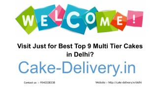 What to do in order to order multi tier cake in different flavors from Cake-Delivery.in?