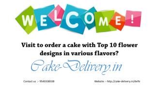 On any type of occasion, who choose to order a cake with flowers design?