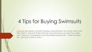 4 Tips for Buying Swimsuits