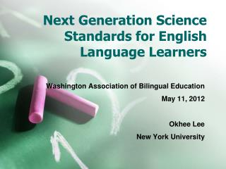 Next Generation Science Standards for English Language Learners