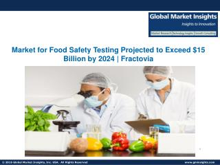 Food Safety Testing Market to Cross the $15 Billion Mark By 2024