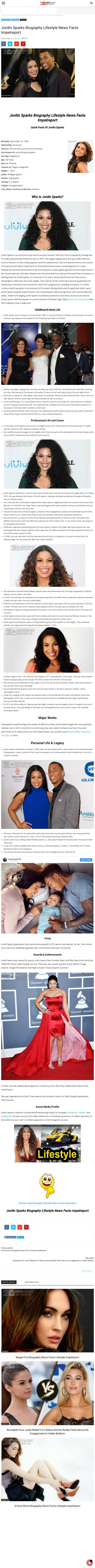 Jordin Sparks Biography Lifestyle News Facts Impelreport