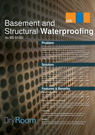 Peter Cox Basement and Structural Waterproofing