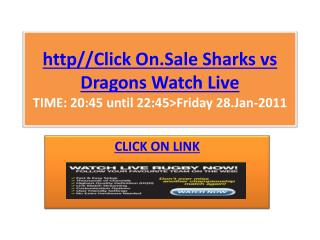 Sale Sharks vs Dragons Live Stream Rugby 2011 LV Cup HD TV