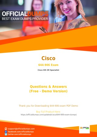 644-906 - Learn Through Valid Cisco 644-906 Exam Dumps - Real 644-906 Exam Questions