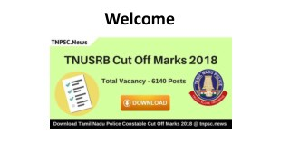 Download TNUSRB Cut Off Marks 2018 Check TN Police Expected Cut off