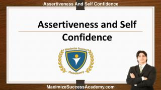 Self Confidence and Assertiveness Training Courses Online