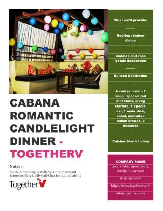 Cabana Romantic Candlelight Dinner - TogetherV
