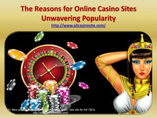 The Reasons for Online Casino Sites Unwavering Popularity
