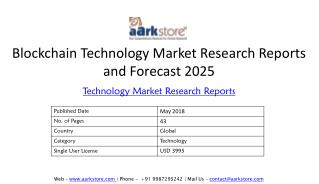 Blockchain Technology Market Research Reports and Forecast 2025