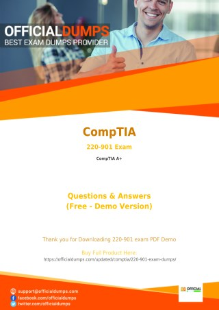 220-901 - Learn Through Valid CompTIA 220-901 Exam Dumps - Real 220-901 Exam Questions