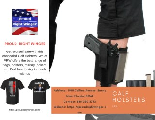 Get the Calf Holsters | PRW