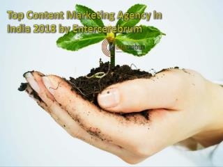 online social marketing and Content Marketing Agency in India 2018 by Entercerebrum