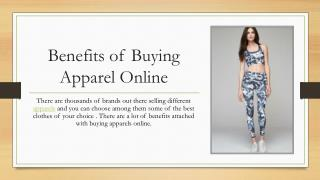 Benefits of Buying Apparel Online