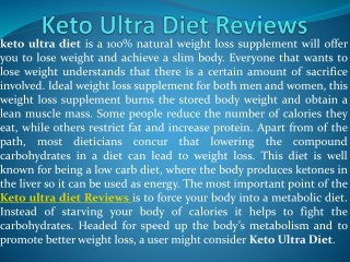 Keto Ultra Diet Pills - Weight Loss, Shark Tank Scam & Side Effects!