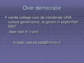 Over democratie