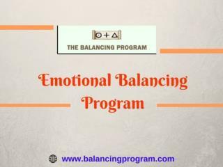 Emotional Balancing Program-Learn at balancing program