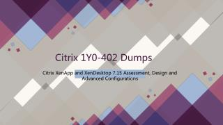 2018 1Y0-402 Citrix Real Dumps IT-Dumps