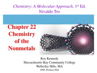 Chapter 22 Chemistry  of the Nonmetals