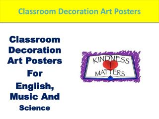Classroom art posters make of classroom more education for students