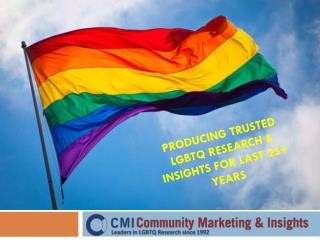 CMI's LGBT Research, Panel and Conferences