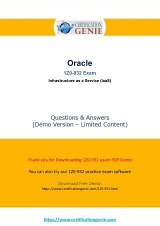 Oracle Cloud 1Z0-932 exam questions pdf updated 2018
