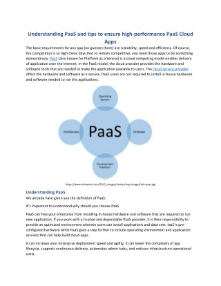 Understanding PaaS and tips to ensure high-performance PaaS Cloud Apps