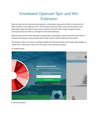 Opencart Spin and Win Email Subscription popup extension